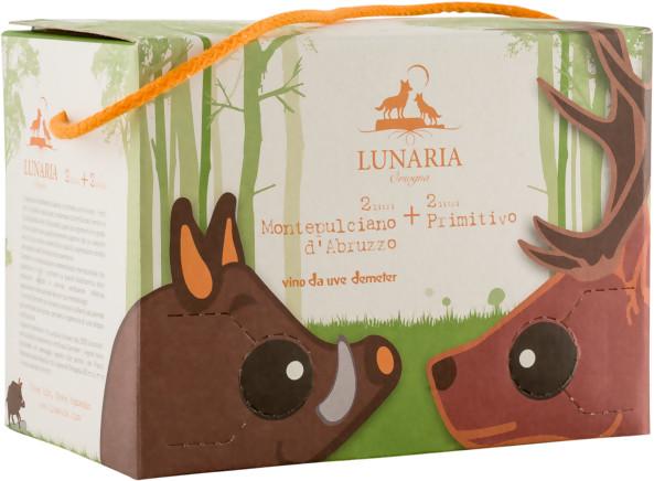 Primitivo-Montepulciano d'Abruzzo Bag in Box 2x2l Lunaria