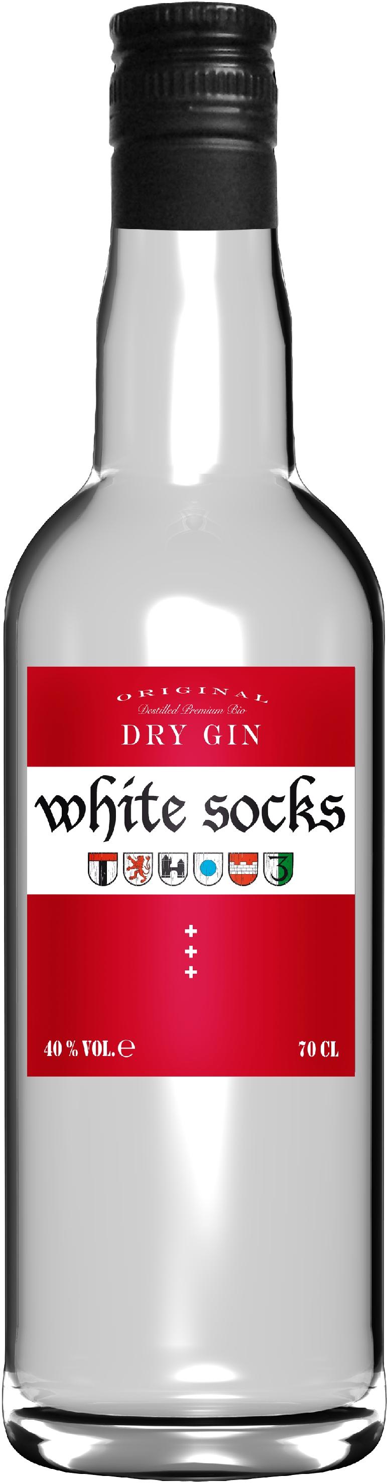 gin white socks