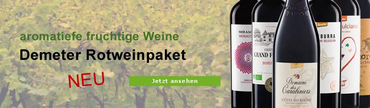Biowein Demeter Rotweinpaket