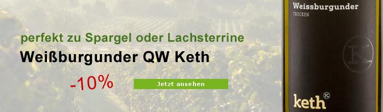 Biowein Spargelwein Keth Weißburgunder