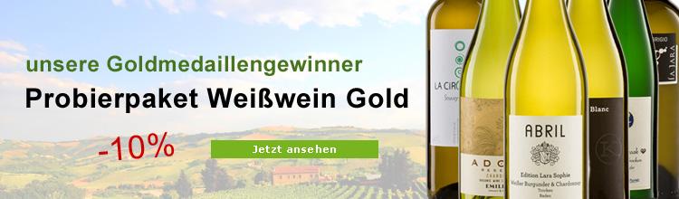 Biowein Weißwein Gold Paket