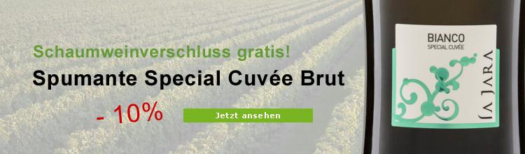 Spumante Cuvée Special Brut La Jara & Stopper gratis